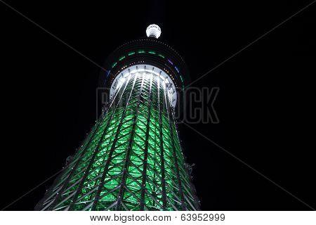 Tokyo Sky Tree Night Illumination