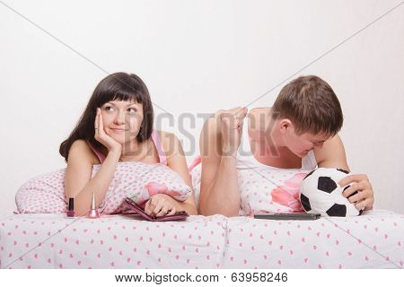 Husband Not Upset By Goal Scored, Wife Was Tired Football