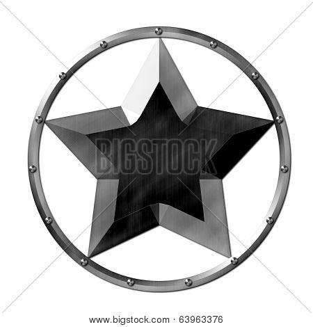 Metal Star Logo Steel
