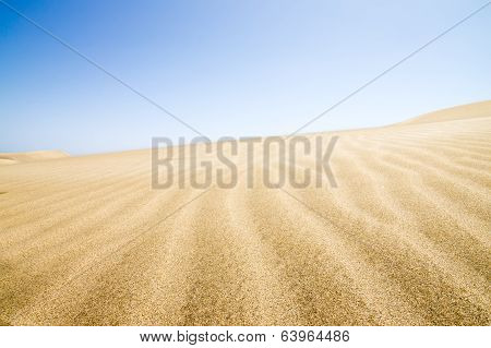 Sand Dunes Stretching Into The Distance.