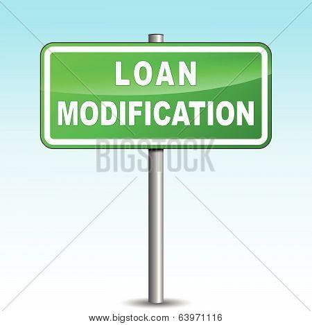 Vector Loan Modification Signpost
