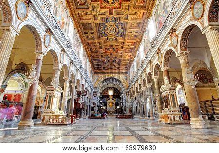 Rome, March - 21: Interior Of Church Santa Maria Aracoeli. March 21, 2014 In Rome, Italy