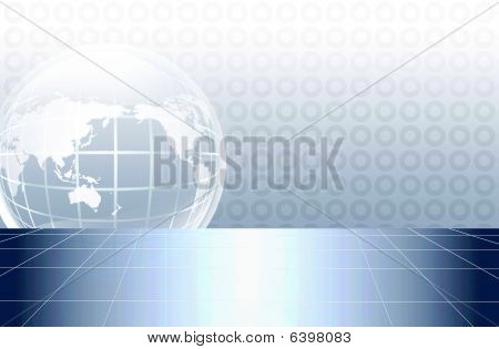 illustration drawing of beautiful earth in a circular background poster