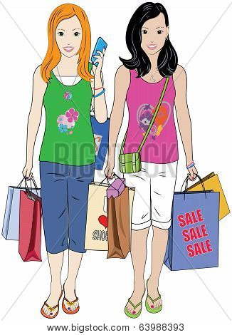 Shopping Teen Girls