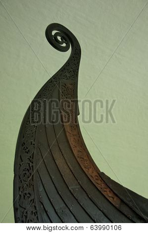 The Oseberg Ship Prow in the Viking Ship Museum