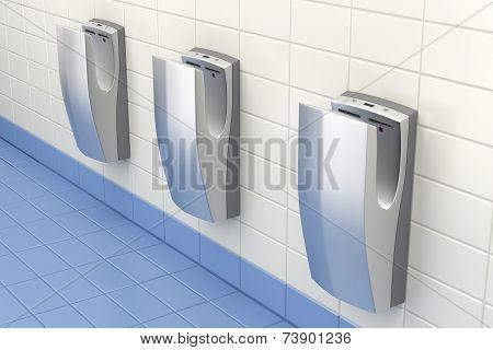 Hand Dryers In Public Washroom