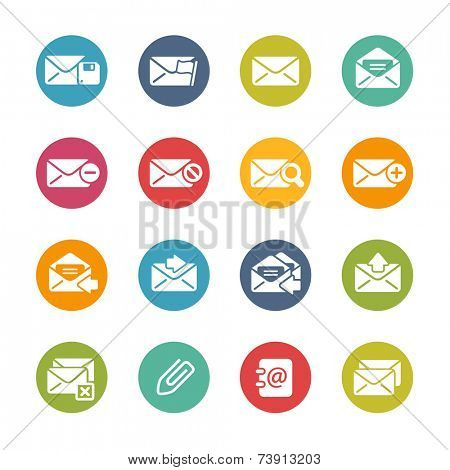 E-mail Icons // Fresh Colors Series ++ Icons and buttons in different layers, easy to change colors ++