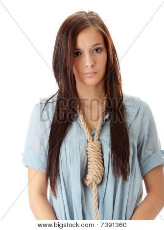 Caucasian Suicide Woman