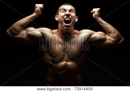 Screaming Bodybuilder.