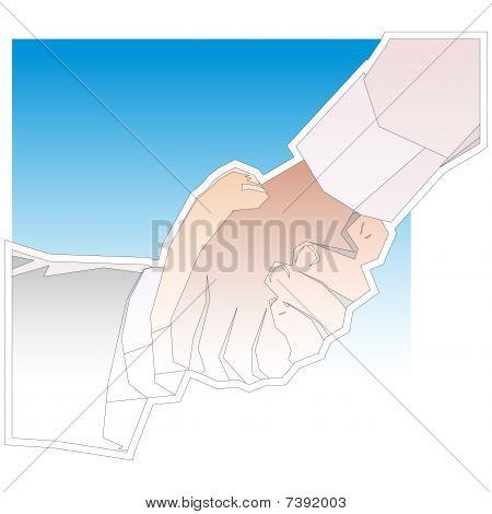 Handshake Angular Outline
