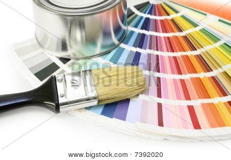 Amostras de cores de tinta