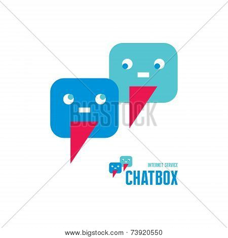 Chatbox - abstract creative logo sign. Vector logo template.