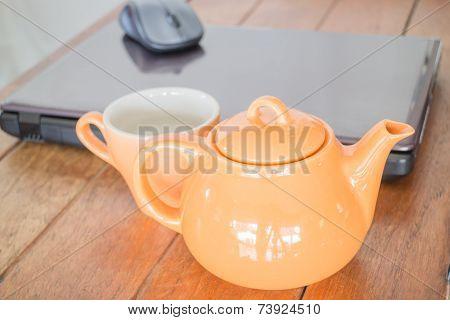 Tea Time Break In Workplace