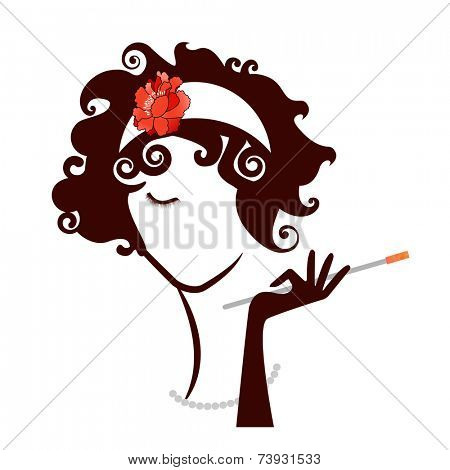 Diva Flapper Woman Beauty  vintage