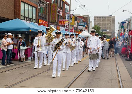 Musicians At Toronto China Town Festival