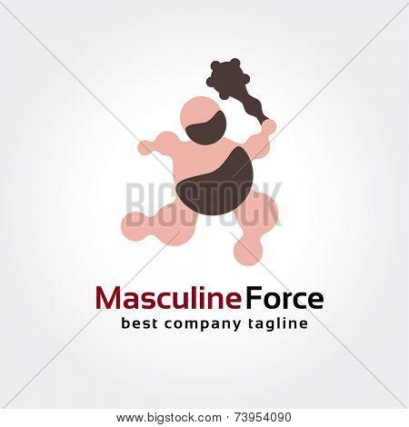 Abstract early men vector logo icon concept. Good as logotype template for branding