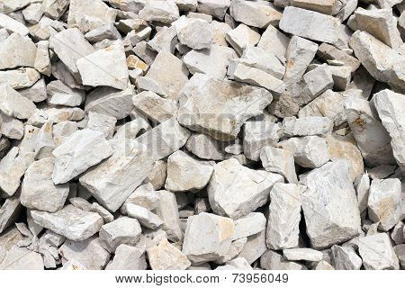 poster of A pile of rock - construction material