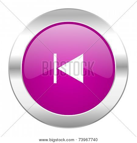 prev violet circle chrome web icon isolated