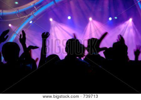 Mensen in het concert