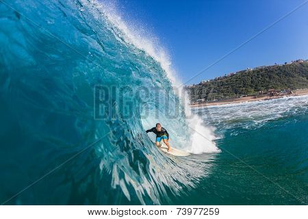 Surfing  Surfer Large Tube Wave