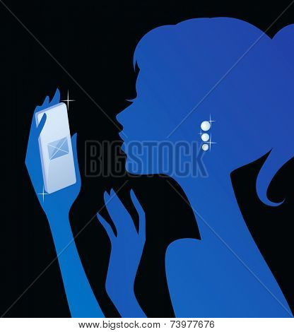 Girl texting on her phone