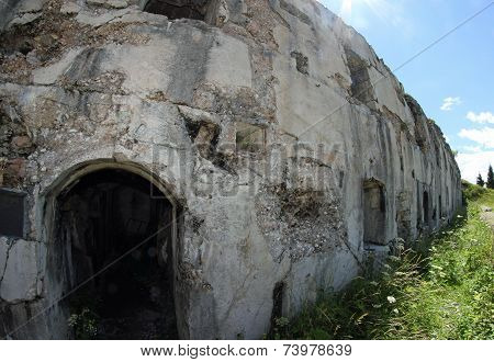 Fort Sommo Used From The Austro Hungarian Army During World War I