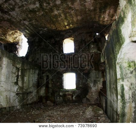 Interior Of The Great Fort Sommo Used From The Austro Hungarian Army During World War I
