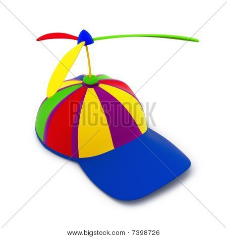 Multicolored baseball cap (3d render)