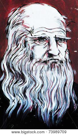 Graffiti Leo Tolstoy Portrait