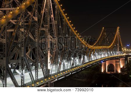 Brisbane Story Bridge closeup by Night
