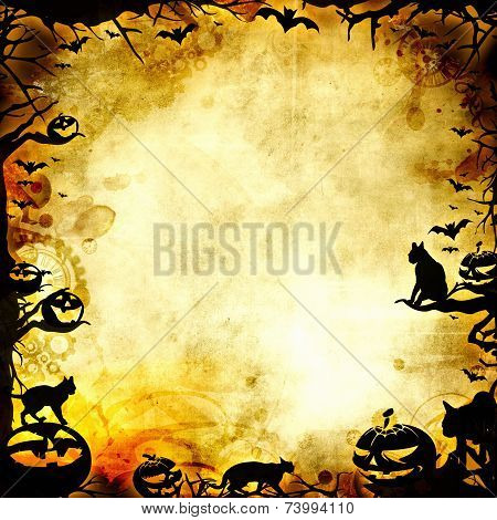 Vintage Halloween Frame Background Or Texture