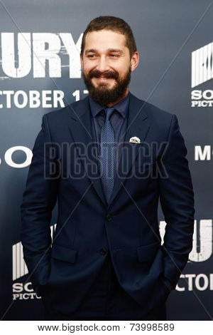 WASHINGTON, DC-OCT 15: Actor Shia LaBeouf attends the world premiere of