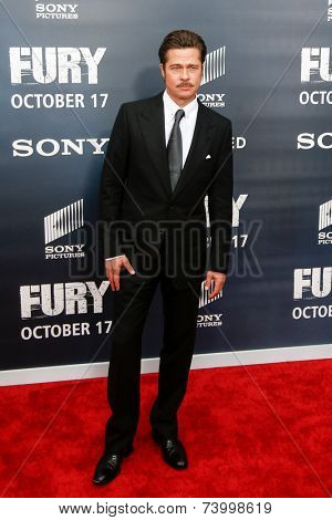 WASHINGTON, DC-OCT 15: Actor Brad Pitt attends the world premiere of
