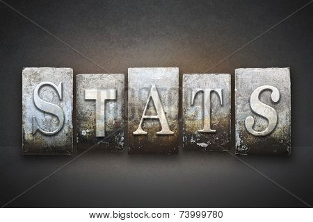 Stats Letterpress