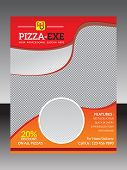 abstract red pizza flyer template vector illustration poster