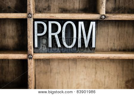 Prom Concept Metal Letterpress Word In Drawer