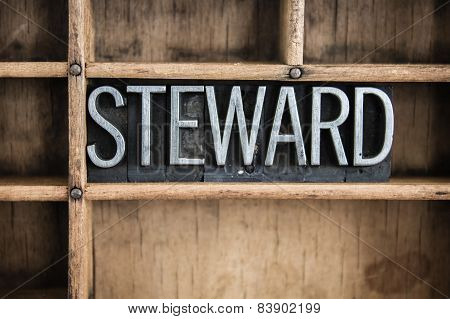 Steward Concept Metal Letterpress Word In Drawer
