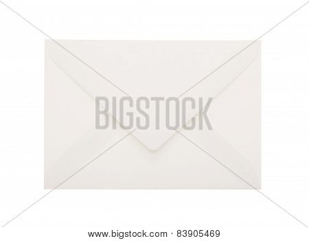 White Envelope Including Clipping Path