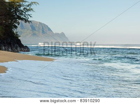 Headland Of Hanalei On Island Of Kauai