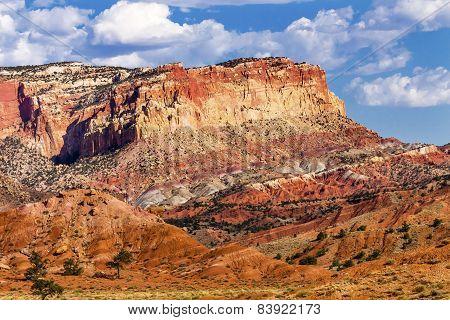 Capitol Reef Sandstone Mountain Capitol Reef National Park Torrey Utah