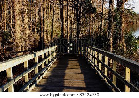 Bridge at Greenfield Lake