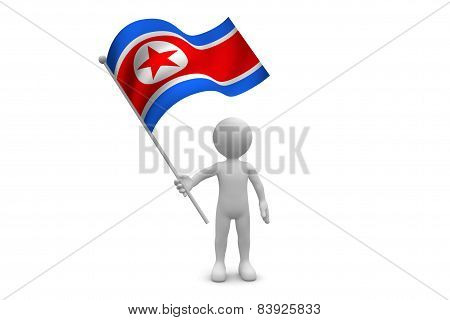 Korea North Flag