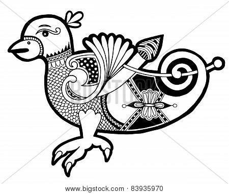 black and white authentic celtic bird