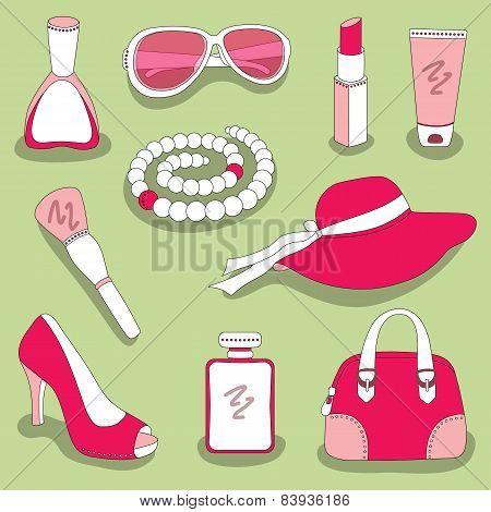 women's glamour stuff set