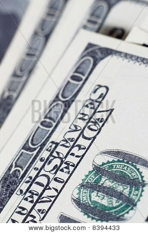 Macro Photo Of American Dollars