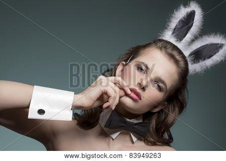 Sexy Girl With Bunny Ears