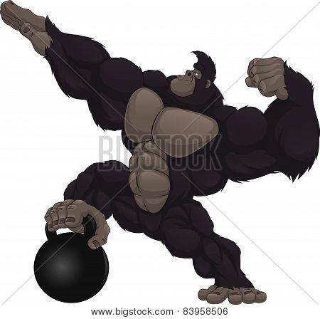 Monkey athlete