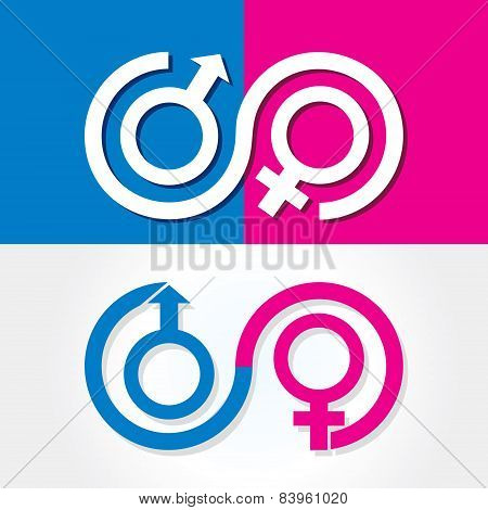 Male and female symbol stock vector