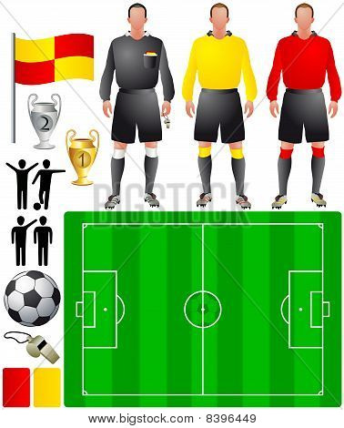 set of icons for European football