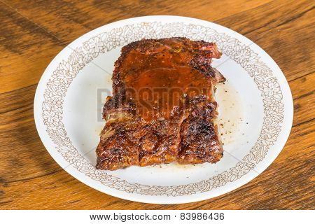 Leftover Ribs Reheated